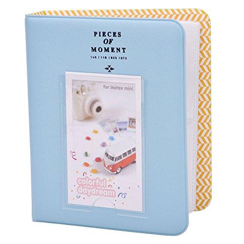 Mogoko Lovable 64 Pockets Mini Album Fuji Instax Mini Photo Album For Instax Mini7s 8 90 25 50S Pringo231 Instax Share Sp 1 Sp 2 Polaroid Pic 300 Polaroid Z2300 Blue
