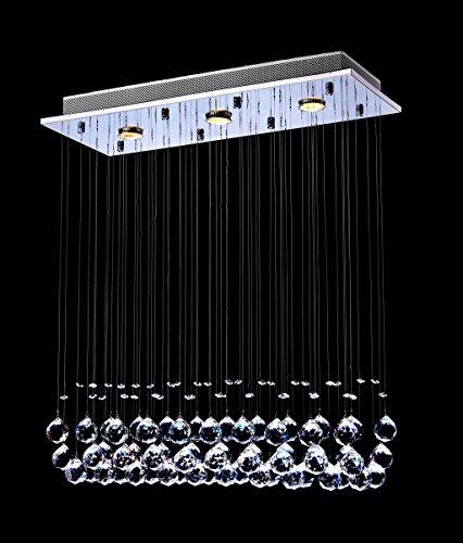 Saint Mossi Chandelier Modern Crystal Raindrop Lighting Flush Mount LED Ceiling Light Fixture Pendant Lamp For Dining Room Bathroom Bedroom