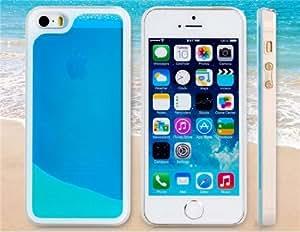 CECT STOCK Reloj de arena Diseño Funda protectora de plástico dinámico para iPhone 5S / 5 (azul)