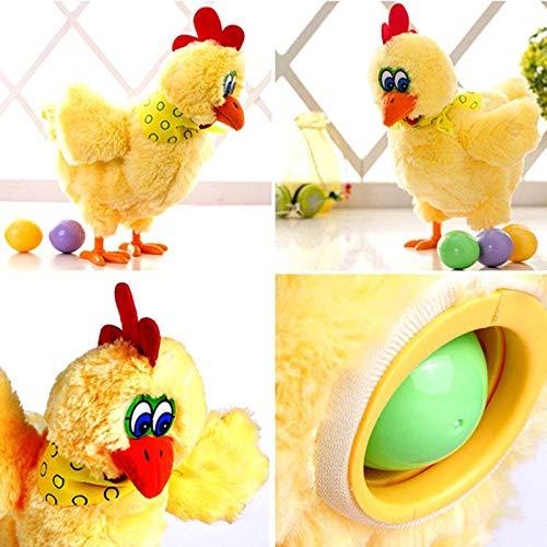 Alftek Ni/ños el/éctrico Baile Musical gallinas de Pollo poniendo Huevos Fiesta de Pascua Juguete Divertido de la mu/ñeca