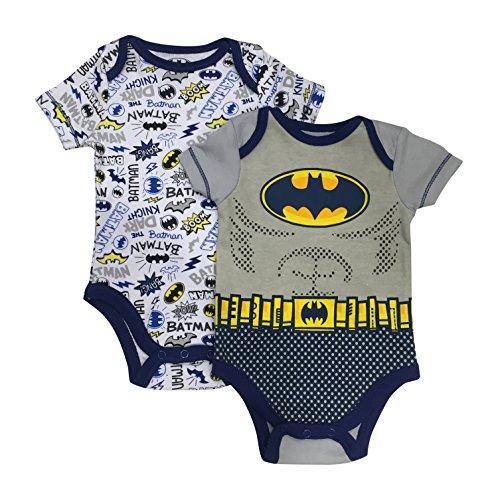Bentex Dc Comics Batman The Dark Knight Boom Pow Bang Baby 2 Pack Bodysuit Set 0-9 Months (3/6 Months) -