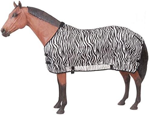(72, Zebra) - Tough-1 Zebra Mesh Fly Sheet