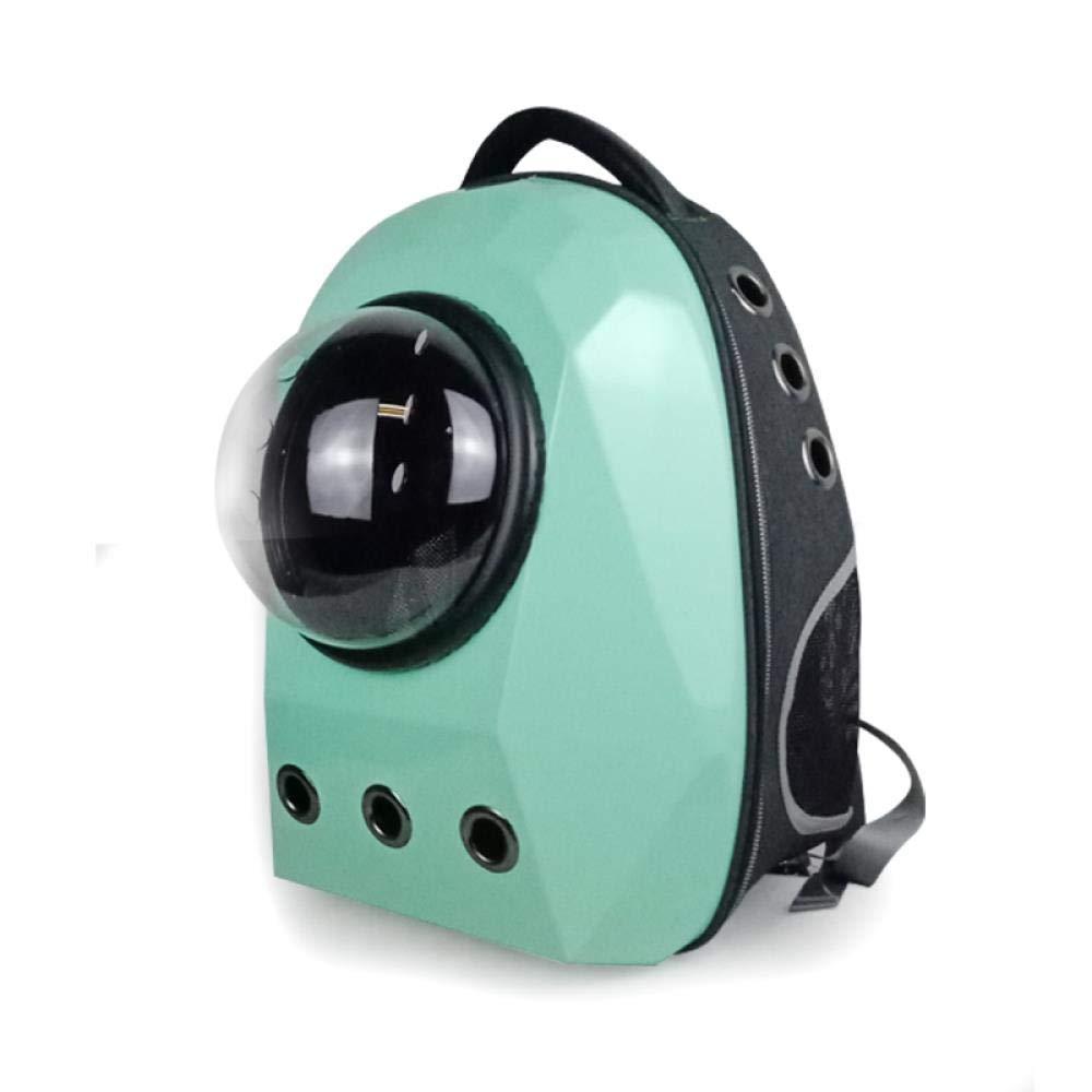 WINNER POP Airline Approved Portable Soft Dog Bag Ventilation, Back Support Travel, Hiking, Walking, Fashion Cool Pet Backpack(Small), Green