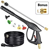 YAMATIC Pressure Washer Gun and Hose With Easy Pull Trigger, Pressure Washer Accessories Kit Power Washer Gun Fit B&S, Honda, Excell, Simpson, Craftsman, Champion, Generac