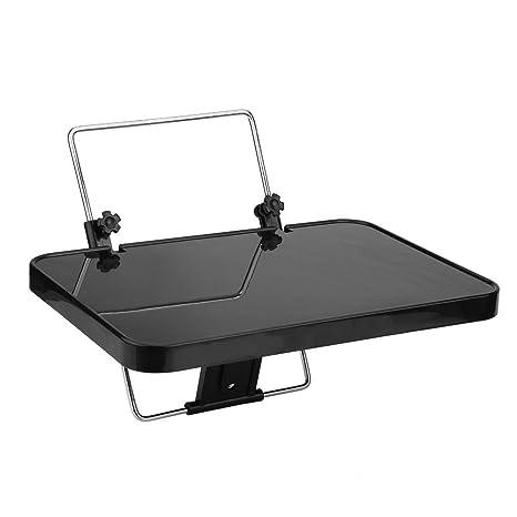 qiilu plegable Auto coche portátil alimentos volante bandeja soporte escritorio mesa de ordenador