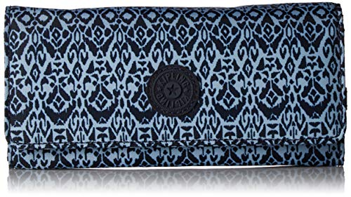 (Kipling New Teddi Continental Wallet, Snap Closure, Geometric Bliss)