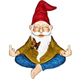 Mood Lab Garden Gnome - Zen Gnome Statue - 9 inch Hand Painted Lawn Gnome Figurine for Outdoor or House Decor