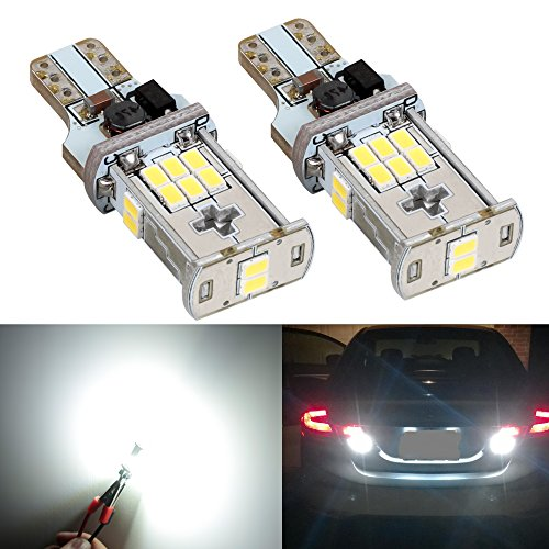Screens Fog Light (XSPEED 921 912 906 W16W T15 Error Free LED Light Bulbs 2000 Lumens Extremely Bright 3020 Chipsets 360 Degree Xenon White 6000k Use For Reverse Backup Lights)