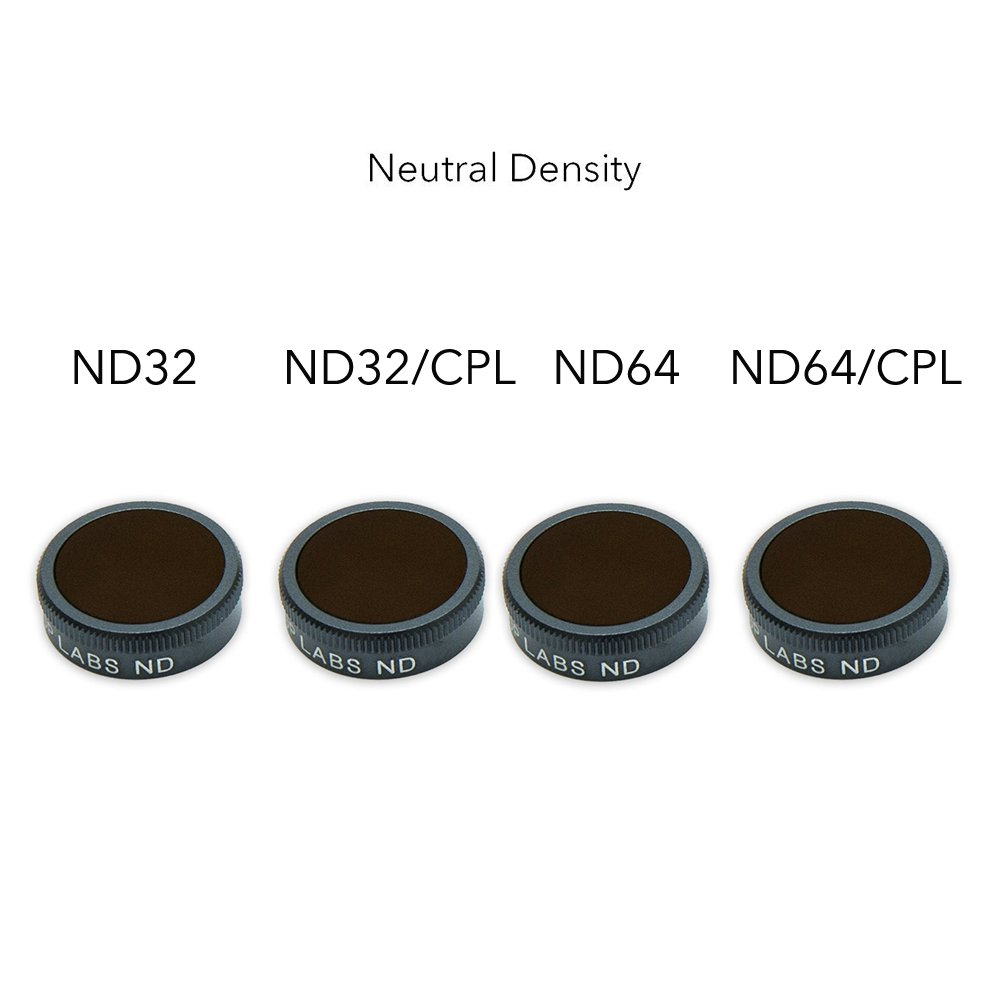 Lens Filters For DJI Mavic Air ND32, ND32/CPL, ND64, ND64/CPL, 4K Camera Lens Multi-coated Filters Pack Accessories by Fstop Labs(4 Pack)