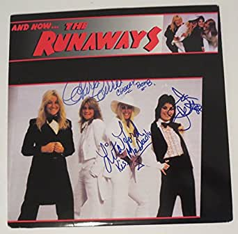 The Runaways REAL hand SIGNED And Now... Vinyl LP JSA COA Joan Jett Ford Currie