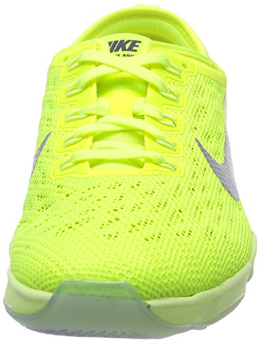 Nike Womens Zoome Fit Agility Lav Topp Snøring Kjører Sneaker 700 Volt / Ivory-hyper Drue / Væske Kalk