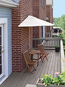 5-Piece Terrace Mates Premium Outdoor Patio Furniture Set 9' -Natural SolarVista