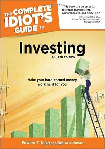 The complete idiot's guide to investing, 3e: debra desalvo, edward.