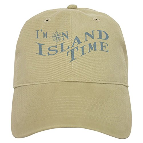 [CafePress - Island Time Cap - Baseball Cap with Adjustable Closure, Unique Printed Baseball Hat] (Pirate Clothing And Accessories)