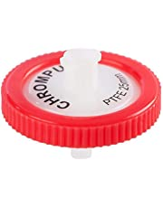 Syringe Filter, Membrane Solutions Lab Supply Filter PTFE,0.45 Micron Pore Size,25mm Diameter,Pack of 10