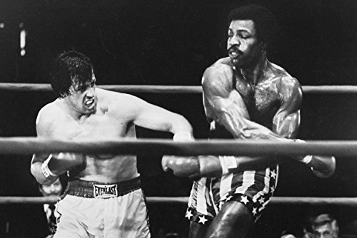 Sylvester Stallone Boxing Carl Weathers as Apollo Creed in Rocky 18x24 Poster