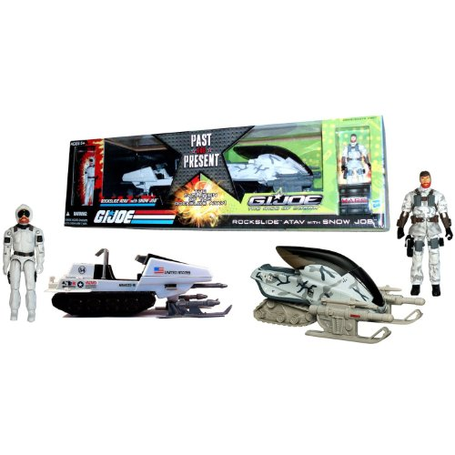 G.I. Joe Movie The Rise of Cobra Exclusive Vehicle Rockslide A.T.A.V. with Snow Job Action Figure Past &Present