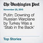 Putin: Downing of Russian Warplane by Turkey Was a 'Stab in the Back' | Hugh Naylor,Andrew Roth,Daniela Deane