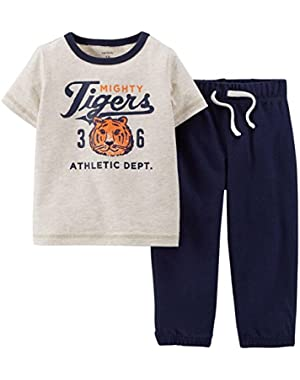 Baby Boys' 2 Piece Active Set (Baby) - Heather - 24 Months