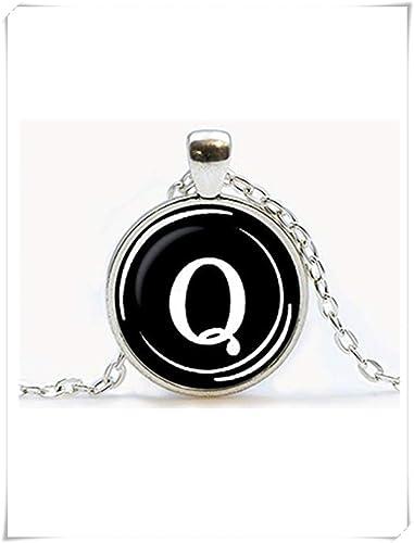 Colgante de llave de máquina de escribir vintage. Collar de letra Q Joyería para máquina de escribir. Nombre inicial, regalo de cumpleaños, ...