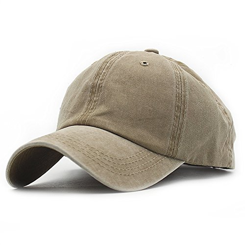 ll Cotton Baseball Cap Vintage Adjustable Dad Hat (Khaki) ()