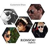 Ronsou Steampunk Style Round Vintage Sunglasses