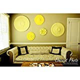 """Ekena Millwork CM11HE2 11 OD x 3 5/8"""" ID x 7/8"""" P Helene Ceiling Medallion, Two Piece (Fits Canopies up to 5 1/4"""")"""