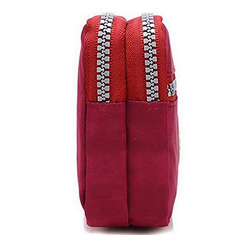 AgooLar Bourse quotidienne Poids Des Femme vie La Vineux Rouge Achats léger sacs Dacron RqrHFRnw