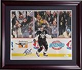 Sidney Crosby Signed 11x14 Framed Celebration Photo Penguins Autograph JSA COA