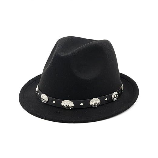 Men Vintage Wool Blend Oval Decors Winter Flat Wide Brim Bowler Hat Cap at  Amazon Women s Clothing store  0fca7c2dfd3