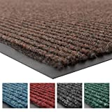 "NoTrax 109 Brush Step Entrance Mat, for Lobbies and Indoor Entranceways, 3' Width x 5' Length x 3/8"" Thickness, Brown"