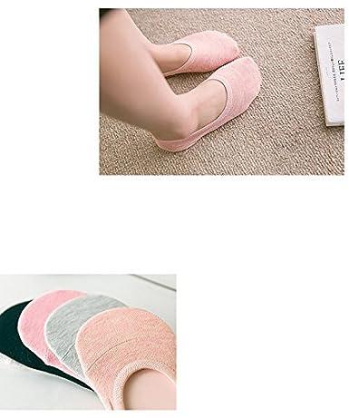 UMIPUBO 10 Pares Calcetines para Mujer Invisibles De Algod/ón Calcetines Cortos El/ástco Con Silicona Antideslizante Anti-olor