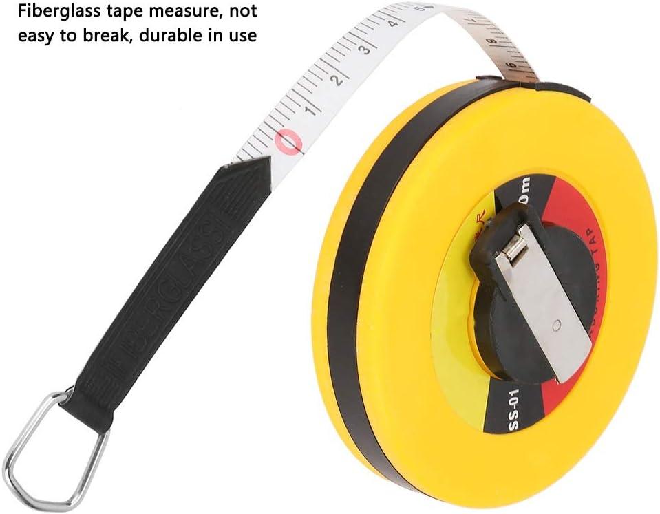 Mesure M/ètre /à ruban en fibre de verre 4 types r/ègles souples M/ètre /à ruban Outil de mesure de b/âtiment site /Édition : 15m//49.2ft