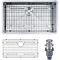 Mowa HKN3018 Pro Series R10 Tight Radius Handmade 30  16 Gauge Stainless Steel Undermount Single Bowl Modern Kitchen Sink