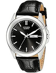 Citizen Mens  Quartz Stainless Steel Watch with Day/Date, BF0580-06E