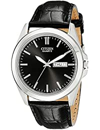Men's BF0580-06E Stainless Steel Watch With Black Leather Band