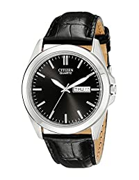 Citizen Men's BF0580-06E  Quartz Watch with Black Leather Strap
