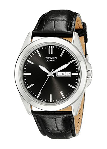 שעון יד Citizen Men's BF0580-06E Stainless Steel Watch With Black Leather Band