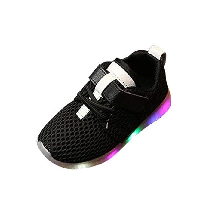 Zolimx LED Illuminare Scarpe Bambino Piccolo/Ragazzino Ragazze Lampeggia Sneakers (27, Rosa)