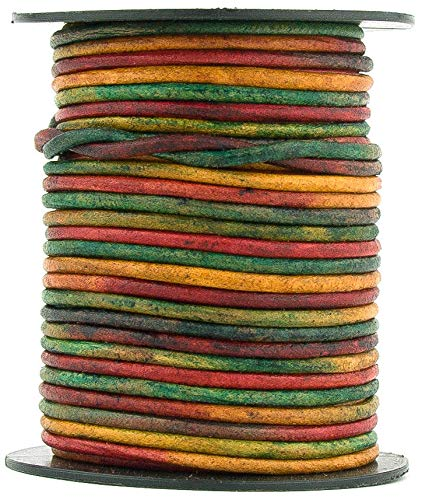 Kinte Gypsy Natural Dye Round Leather Cord 1.5mm 100 Meters (109 Yards) by RERA SHOP (Image #1)