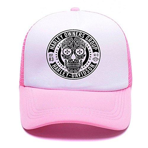 Harley D Black Baseball Caps Gorras de béisbol Trucker Hat Mesh Cap For Men Women Boy Girl 010 Pink