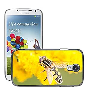 Super Stella Slim PC Hard Case Cover Skin Armor Shell Protection // M00149804 Hoverfly Insect Close Macro Yellow // Samsung Galaxy S4 S IV SIV i9500