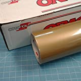 Gold 24'' x 30 Ft Roll of Oracal 951 Premium Metallic Vinyl for Craft Cutters and Vinyl Sign Cutters