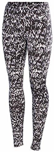 Nike Women's Sport Casual Club Leggings-Black/Gray-XL