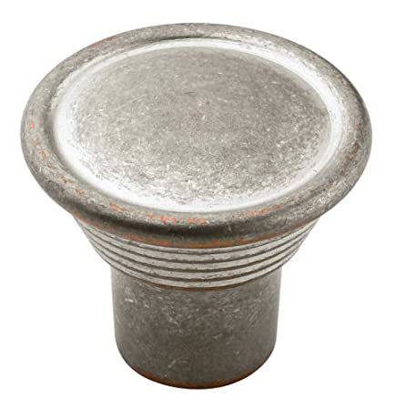 Amerock BP24010-WNC Galleria Signature 7 Knob, 30 mm Diameter, Weathered Nickel Copper