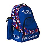 """Boombah Tyro Baseball / Softball Bat Backpack - 20"""" x 15"""" x 10"""" - Camo Royal Blue/Red - Holds 2 Bats up to Barrel Size of 2-3/4"""" offers"""