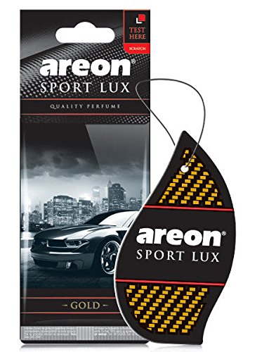 Areon Sport LUX Quality Perfume/Cologne Cardboard Car & Home Air Freshener, GOLD (Pack of 24) by Areon