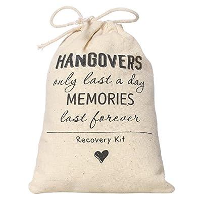 Ling's moment Hangover kit Bag Hangovers Bag Bachelorette Party Gift Bag