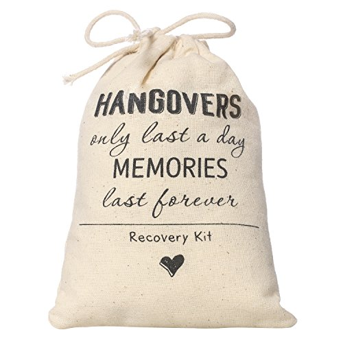 Ling's moment 4x6 inch 10pcs Bachelorette Party Hangover Kit Bags Hangovers Bag Cotton Drawstring Wedding Party Welcome Favor Bags