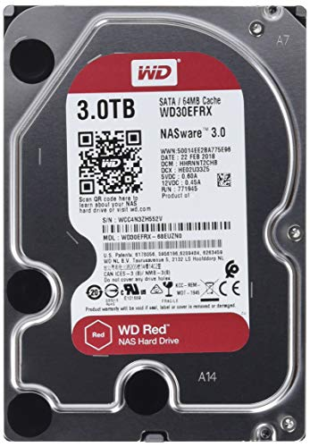 WD Red 3TB NAS Hard Drive - 5400 RPM Class, SATA 6 Gb/s, 64